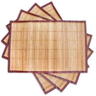 Toro Bambusové prostírání béžové sada 4 ks