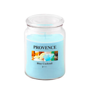 Svíčka ve skle s víčkem BLUE COCKTAIL