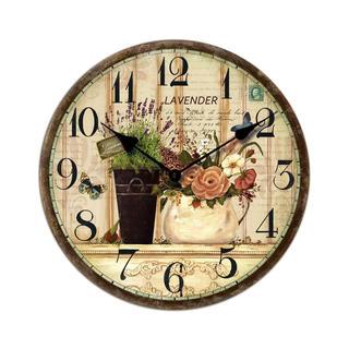 Nástěnné hodiny s motivem Levandule a růží, 34 cm