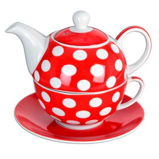 Porcelánová čajová souprava Tea For One  PUNTÍK