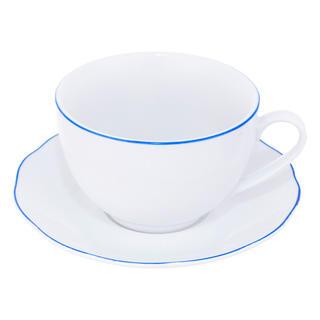 Porcelánový šálek s podšálkem BLUE LINE