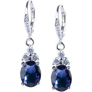 Náušnice s modrými krystaly