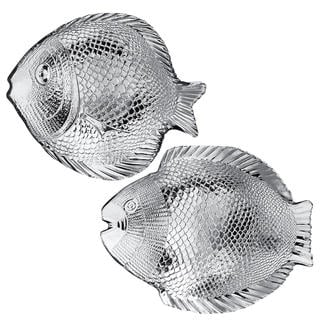 Sada skleněných talířů RYBA 2 ks