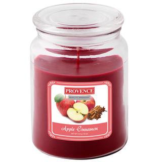Svíčka ve skle s víčkem, jablko a skořice
