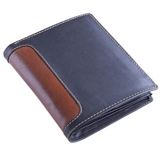 Pánská kožená peněženka černo-hnědá