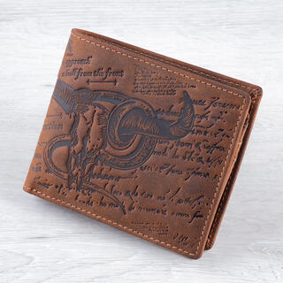 Pánská kožená peněženka BUVOLÍ LEBKA světle hnědá