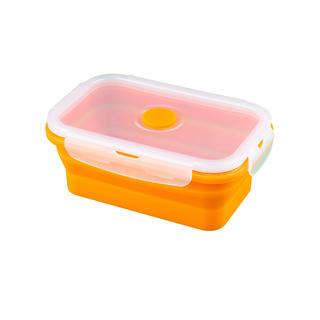 Silikonová skládací miska M oranžová