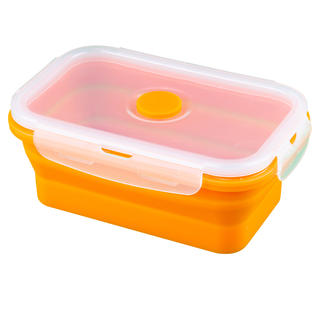 Silikonová skládací miska L oranžová