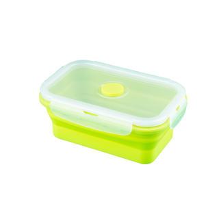 Silikonová skládací miska M zelená