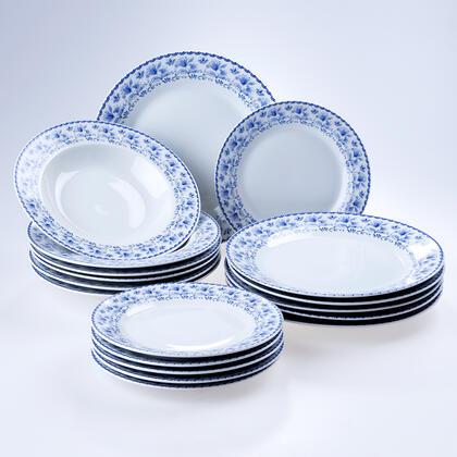 Banquet Porcelánová sada talířů BLUEBELL 18 ks