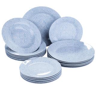 Banquet Porcelánová sada talířů BLUE MEADOW 18 ks