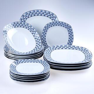 Banquet Porcelánová sada talířů square LOUNGE 18 ks