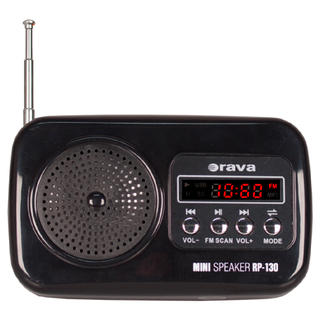 Přenosné radio s USB Orava RP-130 B černé