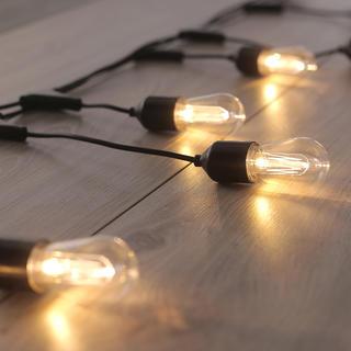 Světelný řetěz s 10 LED podlouhlými žárovkami 8 m