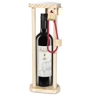 Dřevěný hlavolam na láhev vína