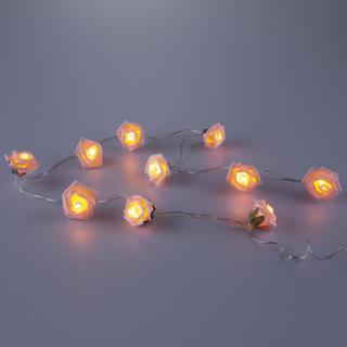 Světelný LED řetěz s růžemi 140 cm