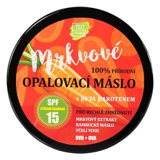 Přírodní opalovací máslo s mrkvovým extraktem SPF 15 150 ml