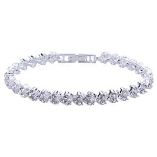 Elegantní dámský náramek s bílými krystalky