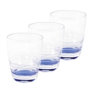 Sada 3 sklenic modré 230 ml