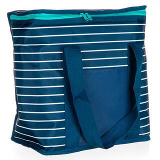 Chladící taška 20 l modrá s proužkem
