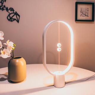 Stolní lampa Heng Balance Lamp Plastic Ellipse USB bílá