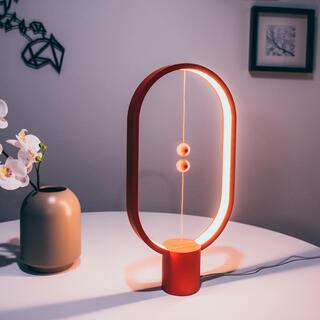 Stolní lampa Heng Balance Lamp Plastic Ellipse USB červená