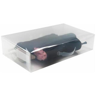 Úložný box na vysoké boty transparentní