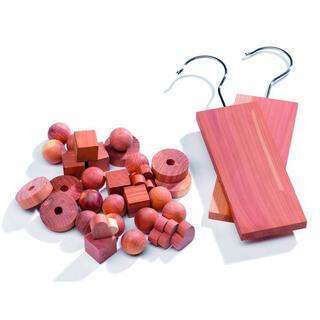 Sada 34 ks cedrového dřeva proti molům Compactor