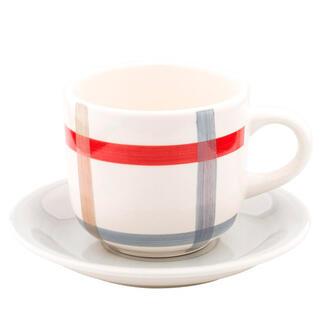 Porcelánový šálek s podšálkem PARILLA červený 340 ml