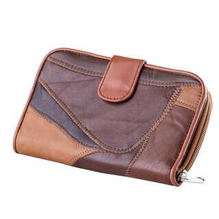 Dámská peněženka hnědý patchwork