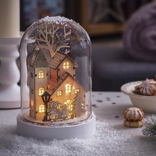Svítící domeček - sněžítko