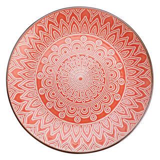 Keramický dezertní talíř MAROKO korálový