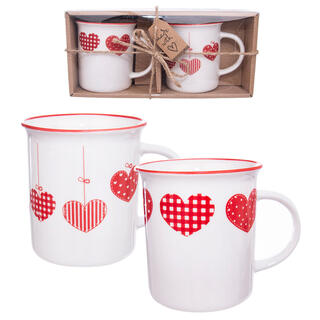 Porcelánové hrnky HOME LOVE 350 ml 2 ks