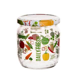 Zavařovací sklenice s dekorem zeleniny sada 4 ks