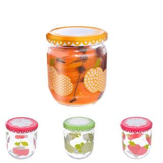 Zavařovací sklenice s dekorem ovoce sada 4 ks