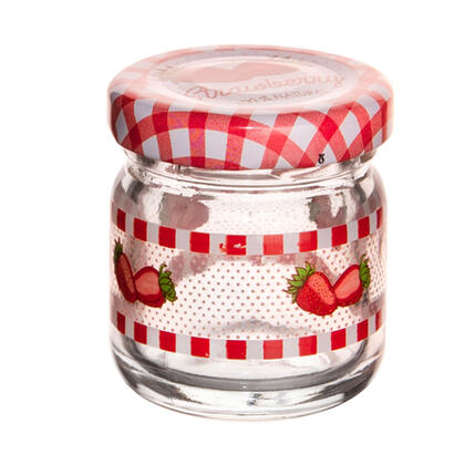 Zavařovací sklenice s víčkem JAHODA 40 ml  sada 8 ks