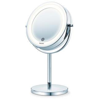 Kosmetické výkyvné zrcadlo stojící s LED osvětlením