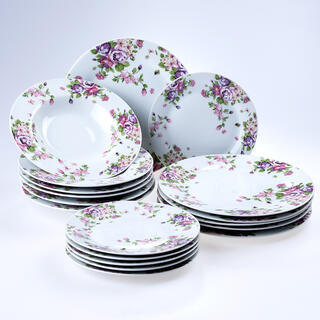 Porcelánová sada talířů BEAUTY 18 ks