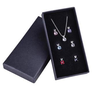 Sada řetízku a 7 přívěsků Swarovski Crystal