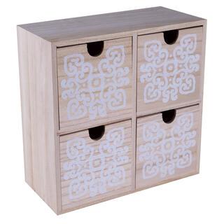 Dřevěná skříňka, 4 šuplíky