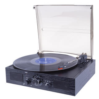 Retro rádio s gramofonem