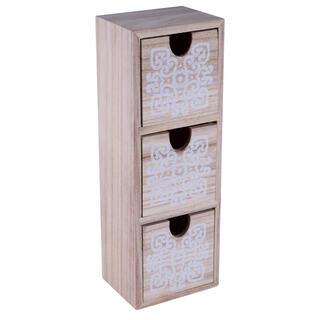 Dřevěná skříňka se 3 šuplíky
