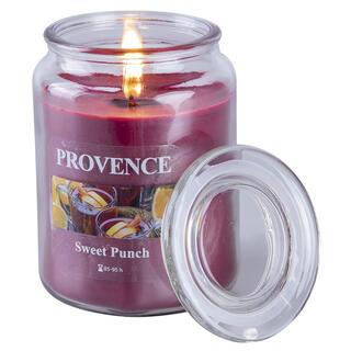 Svíčka ve skle s víčkem SLADKÝ PUNČ