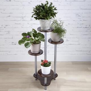 Květinový stolek ROLAND tmavé dřevo
