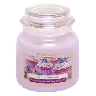 Svíčka ve skle s víčkem MUFFIN Lesní plody 430 g
