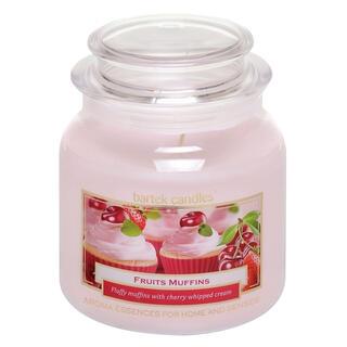 Svíčka ve skle s víčkem  MUFFIN Třešně se šlehačkou 430 g