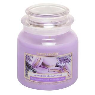 Svíčka ve skle s víčkem LEVANDULOVÉ MAKRONKY 430 g