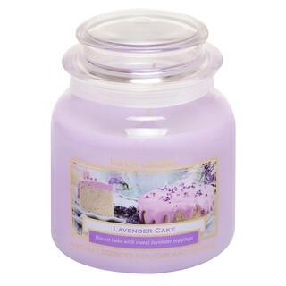 Svíčka ve skle s víčkem LEVANDULOVÝ DORT 430 g