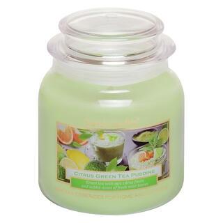 Svíčka ve skle s víčkem CITRUSOVÝ PUDINK 430 g