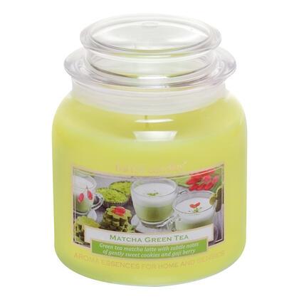 Svíčka ve skle s víčkem MATCHA ČAJ 430 g